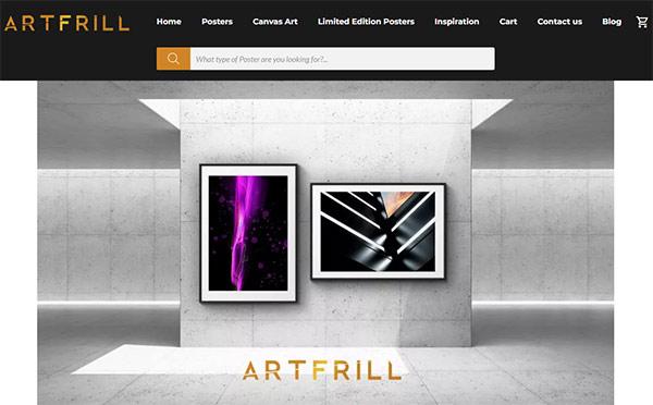 AJAX Search plugin on Artfrill